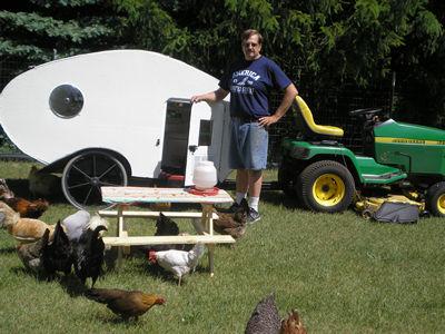 Chicken Coop Trailer Chicken Camper Coop