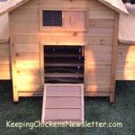 newly built chicken coop